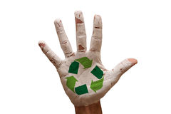 Palm recycle Stock Image