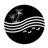 Palm and sea Royalty Free Stock Images