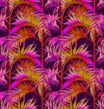 Palm Seamless Pattern. Tropical leaves backgrounds. Royalty Free Stock Photos