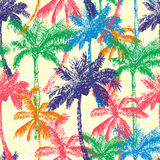 Palm Seamless Pattern A Stock Photo