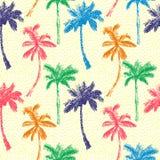 Palm Seamless Pattern A Stock Photo