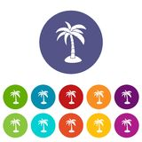 Palm set icons Royalty Free Stock Photography