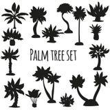 Palm silhouette set. Vector illustrtation Royalty Free Stock Image
