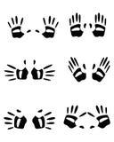 Palm silhouettes on white Stock Photos