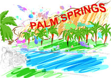 Palm springs Royalty Free Stock Photography