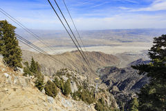Palm Springs Aerial Tram Mountain station view from top Stock Photos