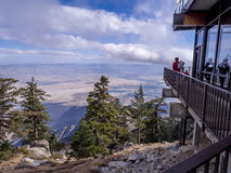 Palm Springs Aerial Tramway. Enjoying the view at Mountain station of the Palm Springs Aerial Tramway on November 15, 2015 in Palm Springs. It is the largest stock photography