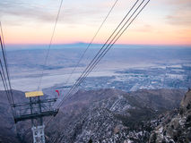 Palm Springs Aerial Tramway. Palm Springs View. Stock Images