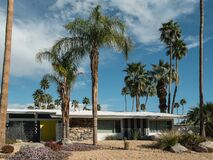 Free Palm Springs, California Classic Midcentury Residential Architecture Royalty Free Stock Image - 174700396