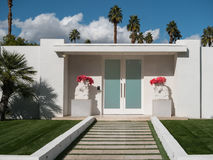 Palm Springs classic architecture. Midcentury residence in Palm Springs, California stock photos