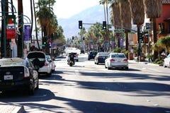 Palm Springs de la impulsión del barranco Foto de archivo