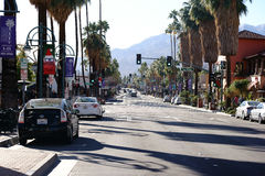 Palm Springs dell'azionamento del canyon Fotografia Stock Libera da Diritti