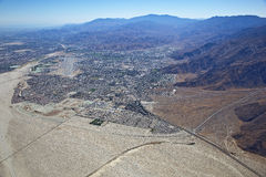 Palm Springs Downtown and Airport Royalty Free Stock Photo