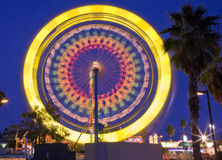 Palm Springs Ferris Wheel. Carnival in Palm Springs has several amusement park rides, including a Ferris wheel stock photo