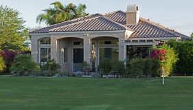 Palm Springs golf course homes Royalty Free Stock Images