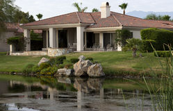Palm Springs golf course homes Stock Images