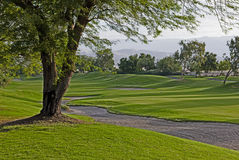 Palm Springs golf course homes Royalty Free Stock Photography