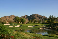 Palm Springs golf course par 3 Stock Photos