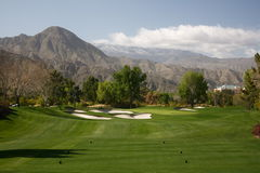 Palm Springs golf course par 3 Royalty Free Stock Photo