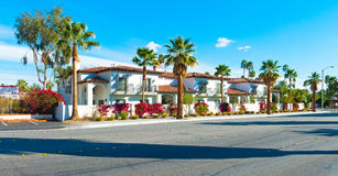 Palm Springs Homes. Several beautiful homes in downtown Palm Springs, California, USA royalty free stock images