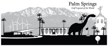 Palm Springs, Kalifornia, usa Ilustracja Wektor