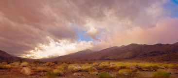 Palm Springs Pano. Nice panorama Image Of the palm Springs desert stock photos