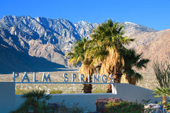 Palm Springs podpisuje California usa obrazy royalty free