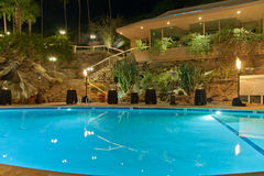 Palm Springs Pool at Night Stock Photos