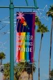 Palm Springs Pride Banner Lizenzfreies Stockbild