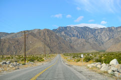 Palm Springs Road Royalty Free Stock Photos