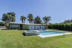 Palm Springs Swimming Pool Backyard Stock Image