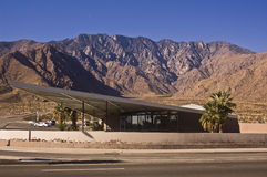 Palm Springs Visitor Center. This is a picture of the Palm Springs Visitor Center (the old Tramway Gas Station), which is considered a classic example of desert Stock Photo