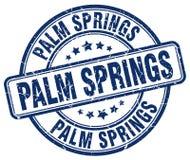 Palm Springsstämpel vektor illustrationer