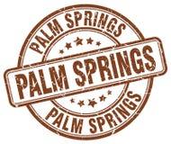 Palm Springsstämpel stock illustrationer