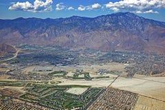 Palm- Springstadtzentrum und Flughafen Lizenzfreie Stockbilder