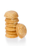 Palm Sugar. Several palm sugar cakes made from palm tree sap against a white background Royalty Free Stock Images