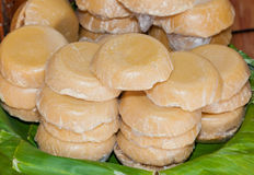 The palm sugar or Jaggery Royalty Free Stock Photo