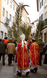 Palm sunday. Procession in Evora, Portugal stock image