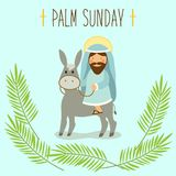 Palm Sunday banner as religious holidays symbols. For your decoration Stock Photos