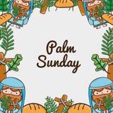 Palm sunday catholic traditional religion background vector illustration