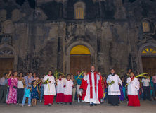 Palm sunday in Geanada Nicaragua Royalty Free Stock Photography