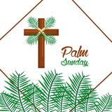 Palm sunday happy easter celebration. Vector illustration Royalty Free Stock Photos
