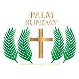 Palm sunday with realstick vector illustration