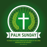 Palm sunday logo Royalty Free Stock Image
