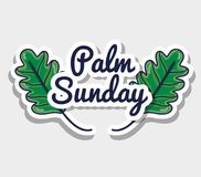 Palm sunday message to catholic religion royalty free illustration