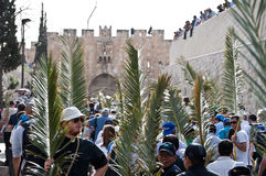 Palm Sunday Procession in Jerusalem Royalty Free Stock Image