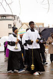 Palm sunday procession Royalty Free Stock Images
