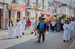 Palm Sunday  in Sucre, Bolivia Royalty Free Stock Photos