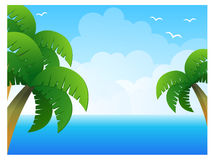 Palm Tree And Sea Stock Photos