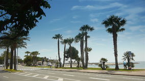 Palm tree boulevard, Cote D'Azur France stock footage